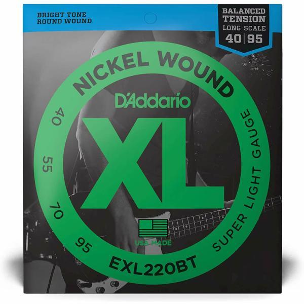 EXL220BT / Super Light / Long Scale / XL Balanced Tensionシリーズ / D'Addario(ダダリオ) / エレキベース弦