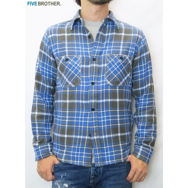 FIVE BROTHER/ファイブブラザー HEAVY FLANNEL WORK SHIRTS 3Color|bethel-by|02