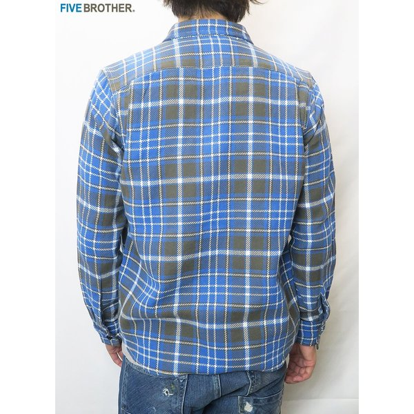 FIVE BROTHER/ファイブブラザー HEAVY FLANNEL WORK SHIRTS 3Color|bethel-by|11