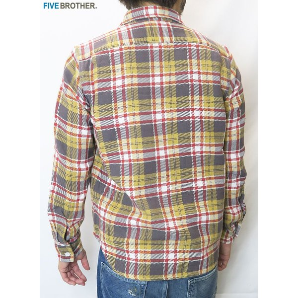 FIVE BROTHER/ファイブブラザー HEAVY FLANNEL WORK SHIRTS 3Color|bethel-by|12