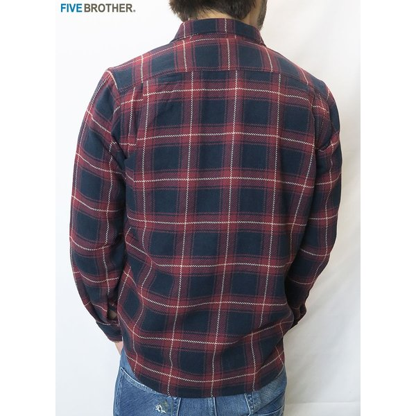 FIVE BROTHER/ファイブブラザー HEAVY FLANNEL WORK SHIRTS 3Color|bethel-by|13