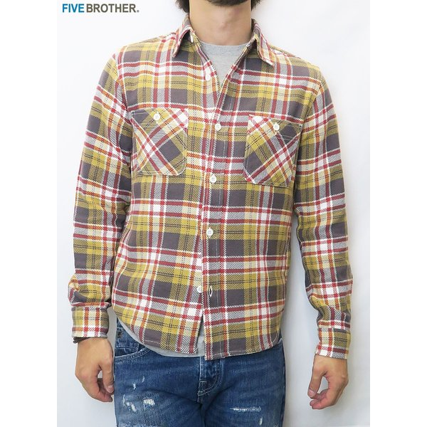 FIVE BROTHER/ファイブブラザー HEAVY FLANNEL WORK SHIRTS 3Color|bethel-by|03
