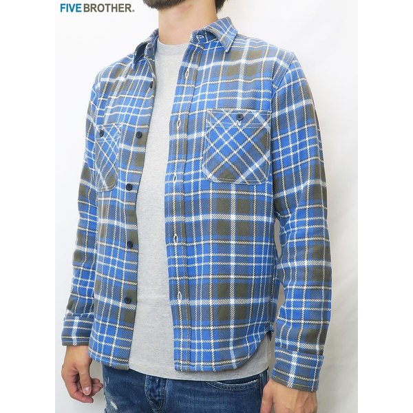 FIVE BROTHER/ファイブブラザー HEAVY FLANNEL WORK SHIRTS 3Color|bethel-by|05