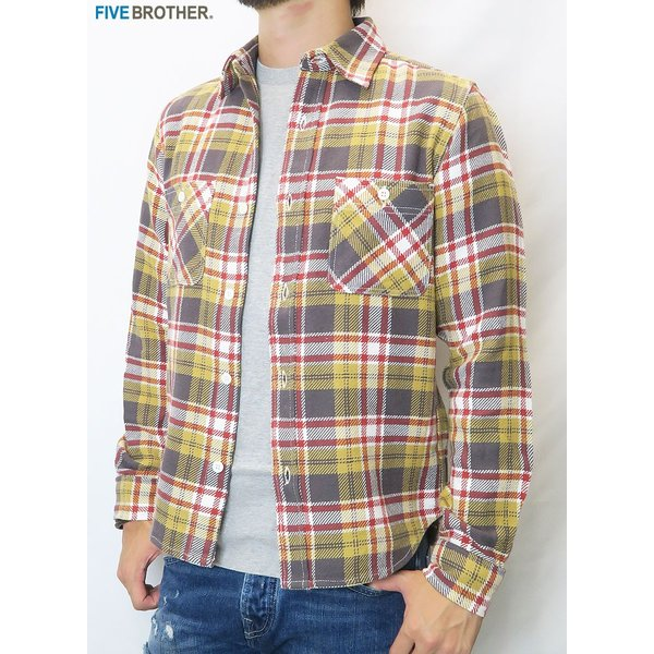 FIVE BROTHER/ファイブブラザー HEAVY FLANNEL WORK SHIRTS 3Color|bethel-by|06