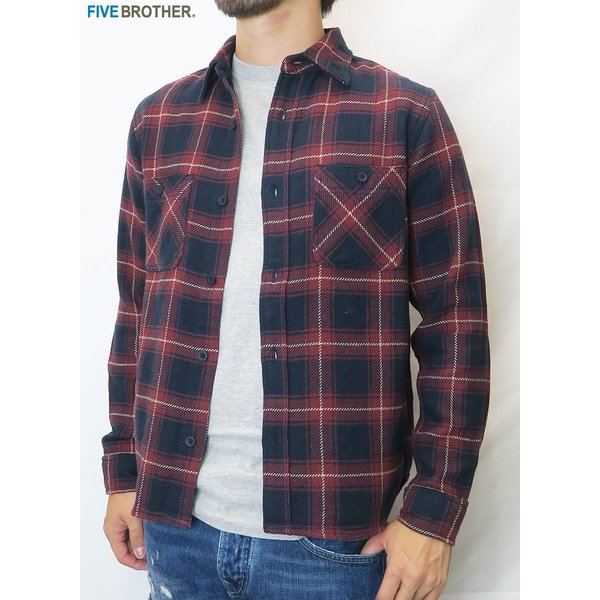 FIVE BROTHER/ファイブブラザー HEAVY FLANNEL WORK SHIRTS 3Color|bethel-by|07