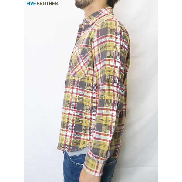 FIVE BROTHER/ファイブブラザー HEAVY FLANNEL WORK SHIRTS 3Color|bethel-by|09