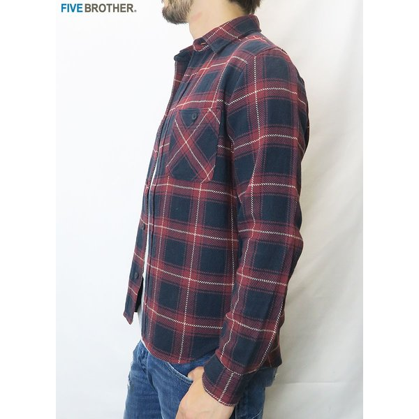 FIVE BROTHER/ファイブブラザー HEAVY FLANNEL WORK SHIRTS 3Color|bethel-by|10