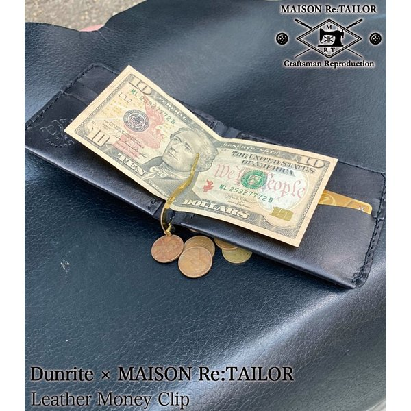 送料無料 DUNRITE LEATHER WORKS×MAISON Re:TAILOR LEATHER MONEY CLIP 2Color|bethel-by|02