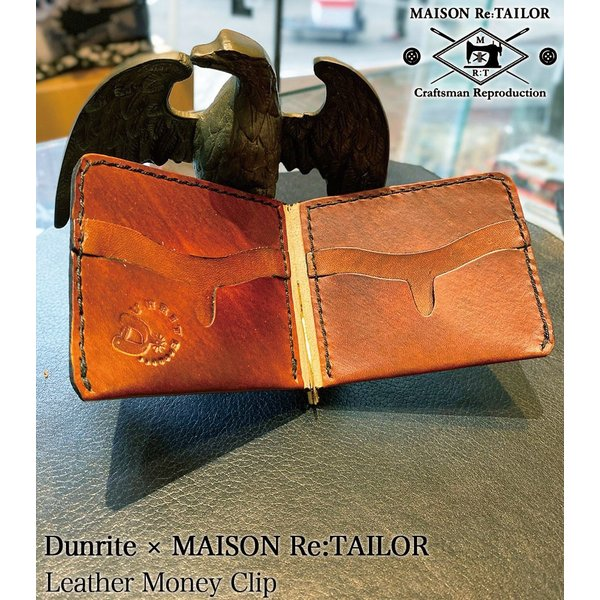 送料無料 DUNRITE LEATHER WORKS×MAISON Re:TAILOR LEATHER MONEY CLIP 2Color|bethel-by|03