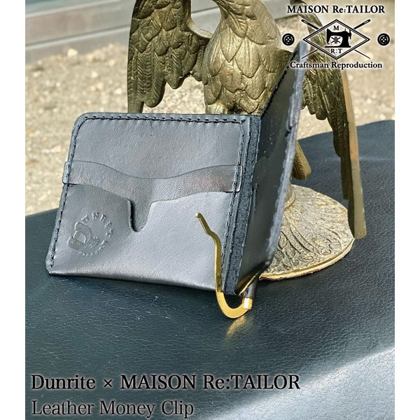 送料無料 DUNRITE LEATHER WORKS×MAISON Re:TAILOR LEATHER MONEY CLIP 2Color|bethel-by|06