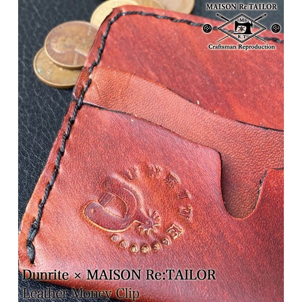 送料無料 DUNRITE LEATHER WORKS×MAISON Re:TAILOR LEATHER MONEY CLIP 2Color|bethel-by|07