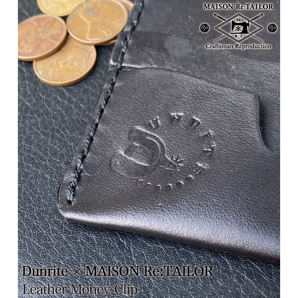 送料無料 DUNRITE LEATHER WORKS×MAISON Re:TAILOR LEATHER MONEY CLIP 2Color|bethel-by|08