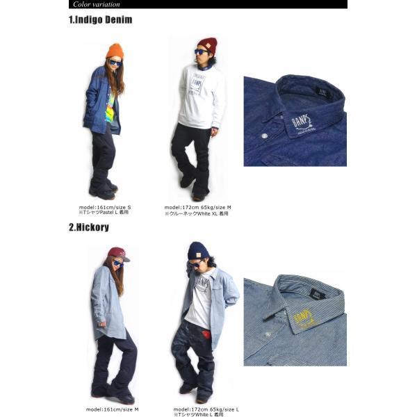 BANPS シャツ 15-16 SLANT POCKET SHIRT スラントポケットシャツ ジップポケット  ウェア スノボ スキー メンズ レディース BANPSSNOWBOARDING|betties-shop|02