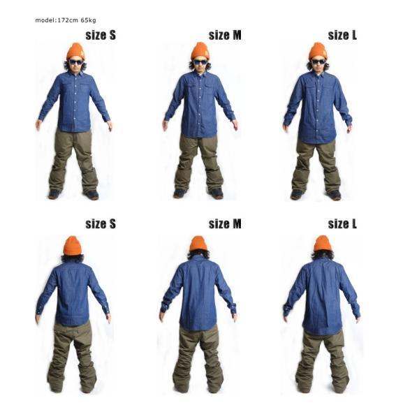 BANPS シャツ 15-16 SLANT POCKET SHIRT スラントポケットシャツ ジップポケット  ウェア スノボ スキー メンズ レディース BANPSSNOWBOARDING|betties-shop|05