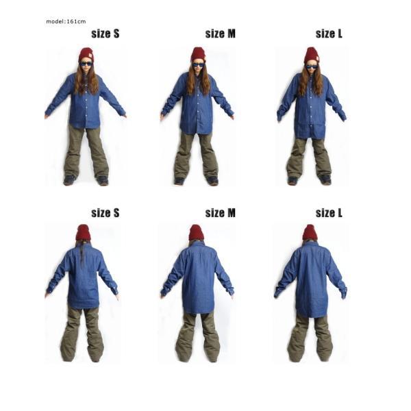 BANPS シャツ 15-16 SLANT POCKET SHIRT スラントポケットシャツ ジップポケット  ウェア スノボ スキー メンズ レディース BANPSSNOWBOARDING|betties-shop|06