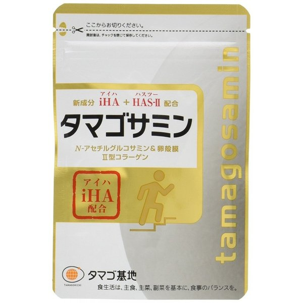 タマゴサミン 90粒 タマゴ基地 グルコサミン 2型コラーゲン アイハ ファーマフーズ|bewide