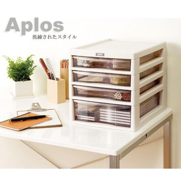 収納ボックス アプロス A4 浅3 深1段 Aplos レターケース 書類ケース 引き出し 収納BOX 収納ケース 送料無料 beworth-shop 04