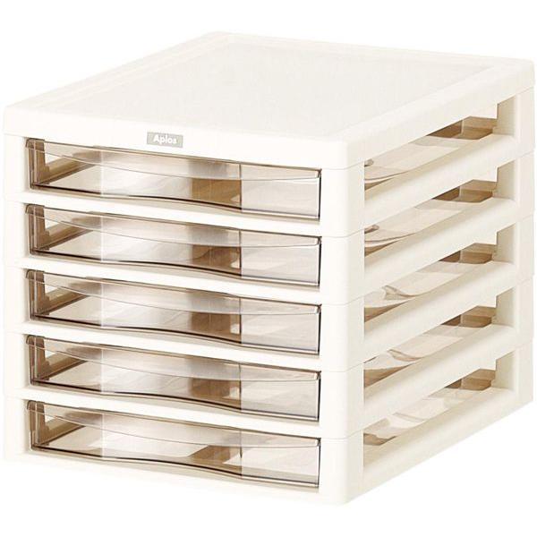 収納ボックス アプロス B4 浅型 5段  Aplos レターケース 書類ケース 引き出し 収納BOX 収納ケース 送料無料|beworth-shop|02