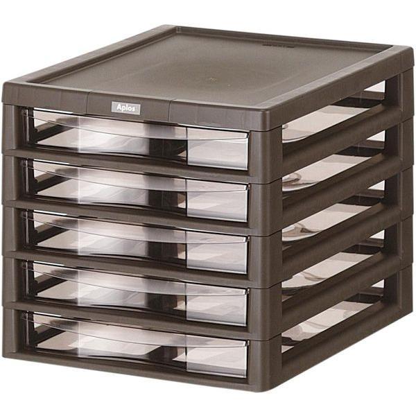 収納ボックス アプロス B4 浅型 5段  Aplos レターケース 書類ケース 引き出し 収納BOX 収納ケース 送料無料|beworth-shop|03