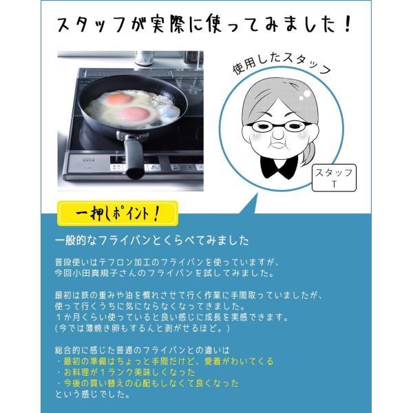 フライパン ガス IH対応 鉄製 使いやすい 20cm サイズ 料理研究家 小田真規子さん監修 こげつき防止 サビに強い 日本製 国産 送料無料|beworth-shop|13