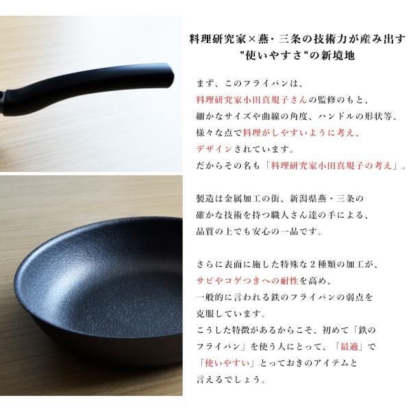 フライパン ガス IH対応 鉄製 使いやすい 20cm サイズ 料理研究家 小田真規子さん監修 こげつき防止 サビに強い 日本製 国産 送料無料|beworth-shop|04