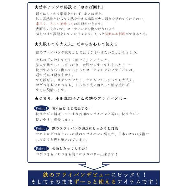 フライパン ガス IH対応 鉄製 使いやすい 20cm サイズ 料理研究家 小田真規子さん監修 こげつき防止 サビに強い 日本製 国産 送料無料|beworth-shop|08