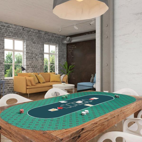 ポーカーテーブル トップ ポータブルマット ラバーマット スーツ柄 POKER ポーカー テキサスホールデム