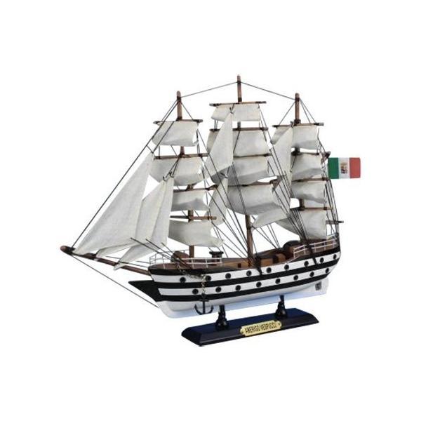 帆船模型 完成品 木製 15インチ アメリゴ・ヴェスプッチ号 全長 36cm