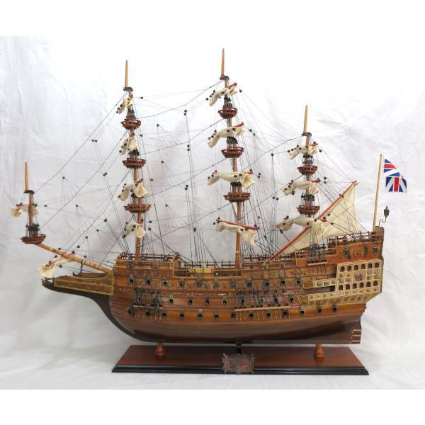 帆船模型 完成品 木製 35インチ ソブリン オブ ザ シーズ HMS Sovereign of the Seas 全長 93cm 船 インテリア T077