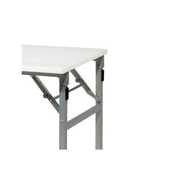 耐水・超軽量 折りたたみ 会議テーブル 幅1800 奥行450 高さ700 約7kg ブラック/シルバー選べる脚色 長机 会議デスク|bfd|04