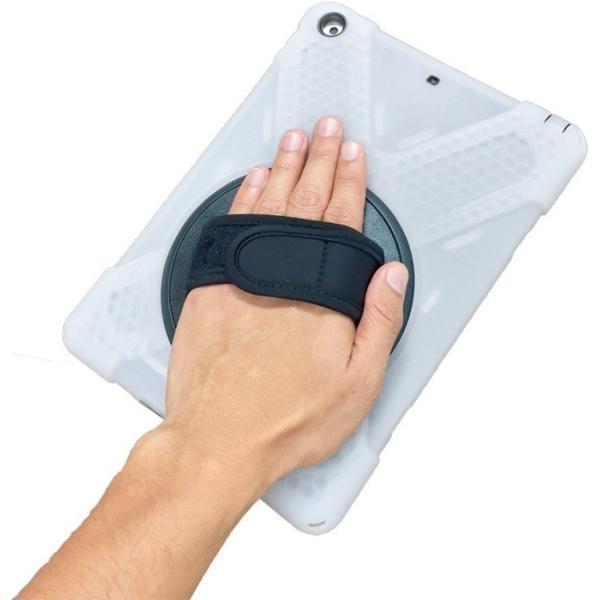 耐衝撃・簡易防塵 iPad(第6世代・第5世代)9.7インチ専用シリコンカバーケース ストラップ・ハンドベルト付き|bfd|06