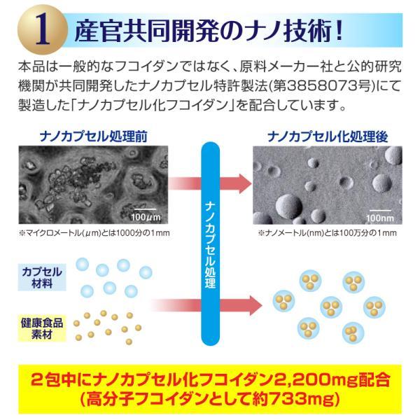 フコイダン 吸収5倍 フコイダンライフ・ナノ 3箱セット フコイダンエキス 低分子 高分子 730mg ガニアシ|bh-labo24|06