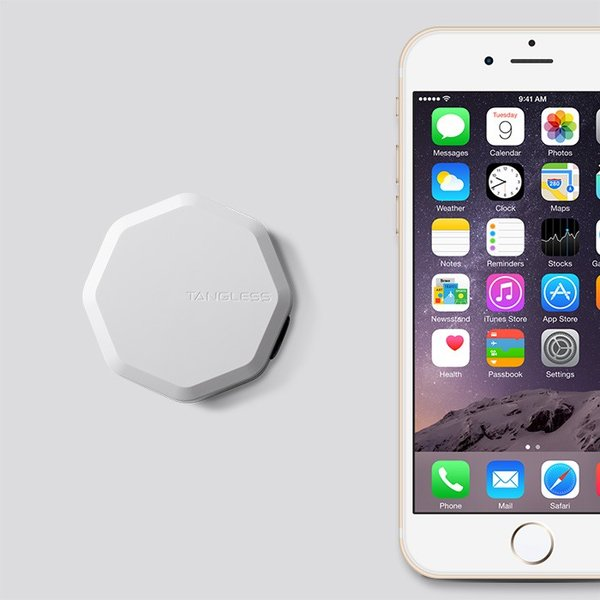 Tangless タングレス british white 絡まないコード収納 ケーブル収納 iPhone イヤホン コードリール|biafactorystore