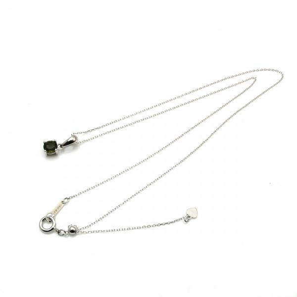 天然 モルダバイト ブリリアントカット 6mm ペンダント 宝石質 鑑別済み|bibi-store|02