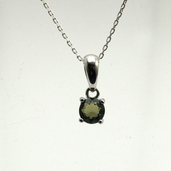 天然 モルダバイト ブリリアントカット 6mm ペンダント 宝石質 鑑別済み|bibi-store|05