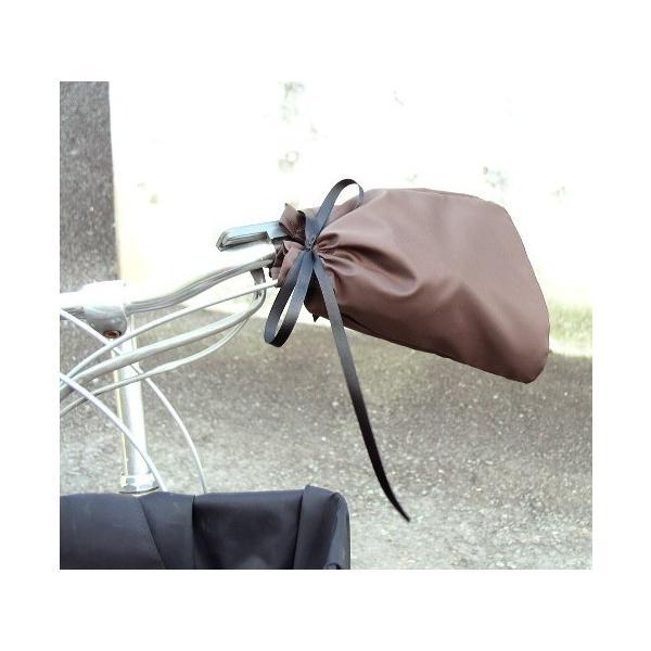 自転車 ハンドルカバー(夏用) リボン色が選べます/おしゃれ かわいい/カゴカバー デザイン「シンプル」とセットで|bibica|05