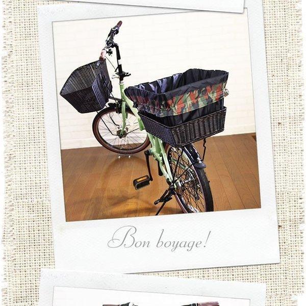自転車かごカバー 強力防水  迷彩Black  /前かご 後ろカゴ ワイドかご 対応/雨 鞄の傷防止 (特許) かわいい おしゃれ スタイリッシュ|bibica|03
