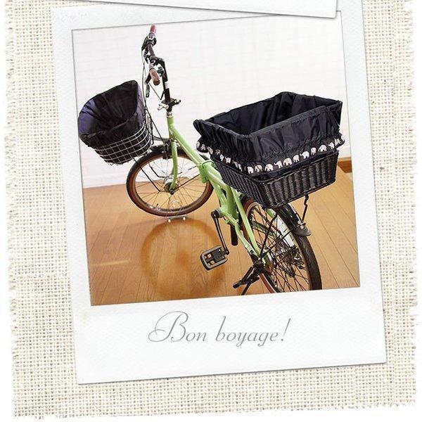 自転車かごカバー 強力防水  象Black  /前かご 後ろカゴ ワイドかご 対応/雨 鞄の傷防止 (特許) かわいい おしゃれ スタイリッシュ|bibica|03