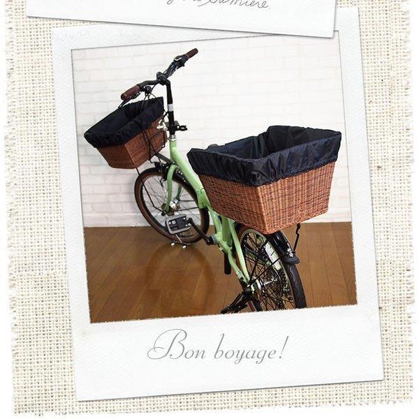 自転車かごカバー 強力防水  ライトブラック  /前かご 後ろカゴ ワイドかご 対応/雨 鞄の傷防止 (特許) かわいい おしゃれ スタイリッシュ|bibica|03
