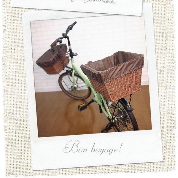 自転車カゴカバー 強力防水  ライトカフェ  /前かご 後ろカゴ ワイドかご 対応/雨 鞄の傷防止 (特許) かわいい おしゃれ スタイリッシュ|bibica|03