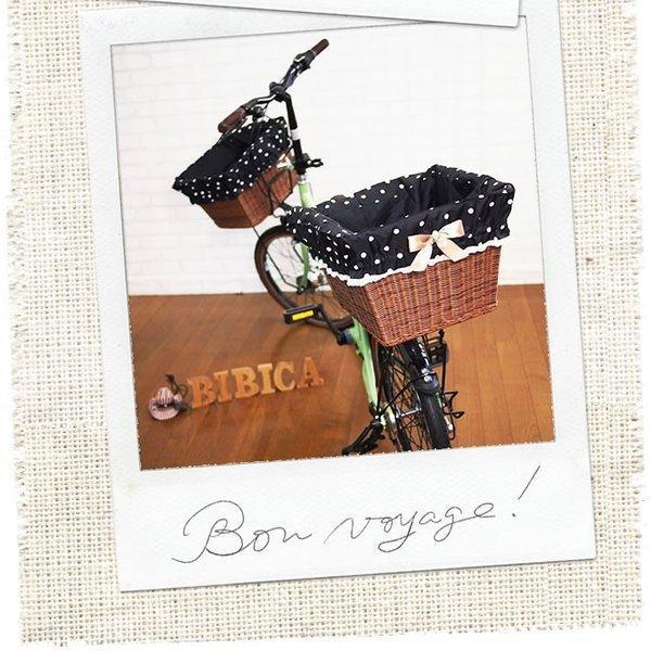 自転車かごカバー 強力防水  シャンパンブラック  /前かご 後ろカゴ ワイドかご 対応/雨 鞄の傷防止 (特許) かわいい おしゃれ スタイリッシュ|bibica|03
