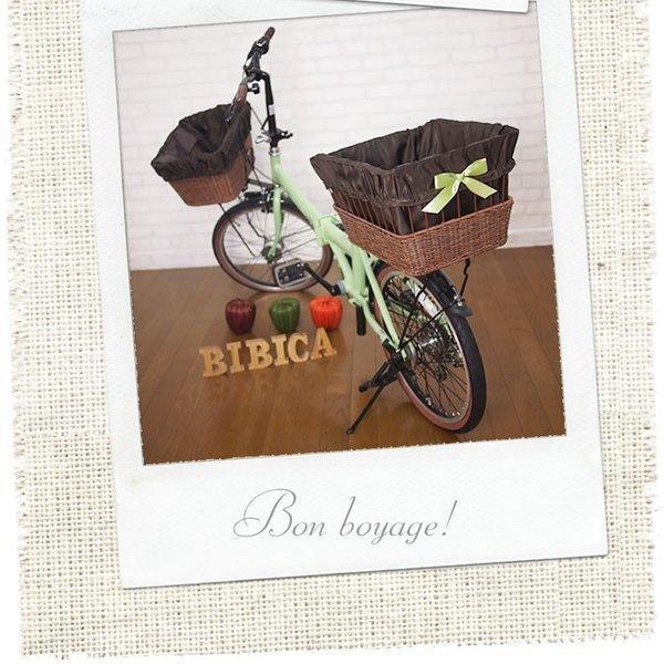 自転車カゴカバー 強力防水  ドレーププリンセス  /前かご 後ろカゴ ワイドかご 対応/雨 鞄の傷防止 (特許) かわいい おしゃれ スタイリッシュ|bibica|03