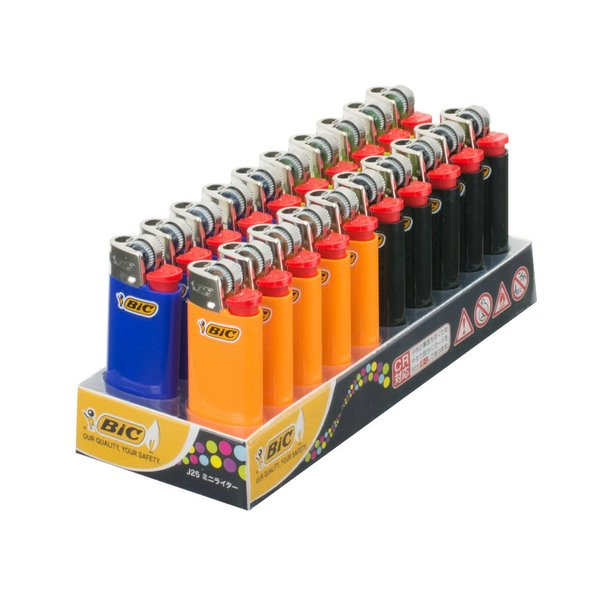 公式 BIC ライター J25  20本入 まとめ買い ガス レディース 可愛い ブランド ビック ミニライター ガスライター J25CDP-20 LI4060-0084A2