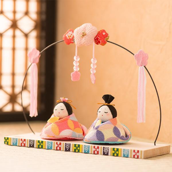RoomClip商品情報 - 雛人形 ひな人形 コンパクト ちりめん お雛様 『花七宝 座り雛 オリジナル』
