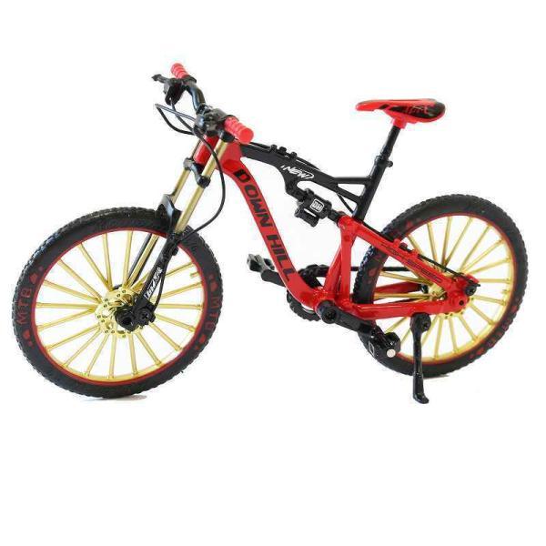 自転車 おもちゃ 子供 子ども MTB マウンテンバイク 模型 ダイキャスト 1/10 レッド