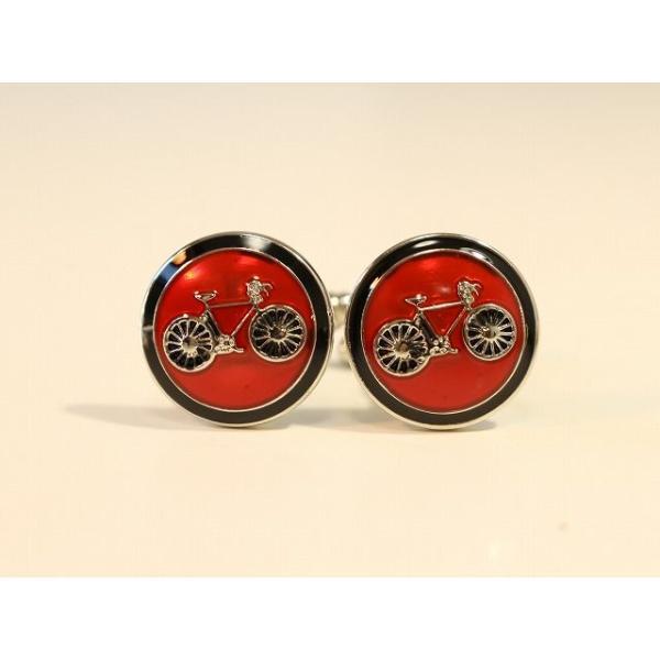 カフスボタン おしゃれ ユニーク 自転車 カフス 自転車 モチーフ カフリンクス自転車柄 誕生日プレゼント CYCLE サイクル