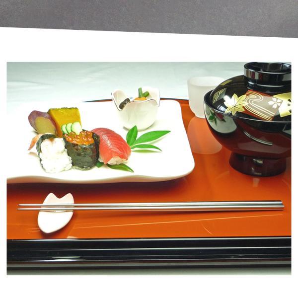 受注生産品 国産 和風彫り模様入りレーザー彫り 純チタン製 かつき箸 全3種 チタン箸|big-market|03