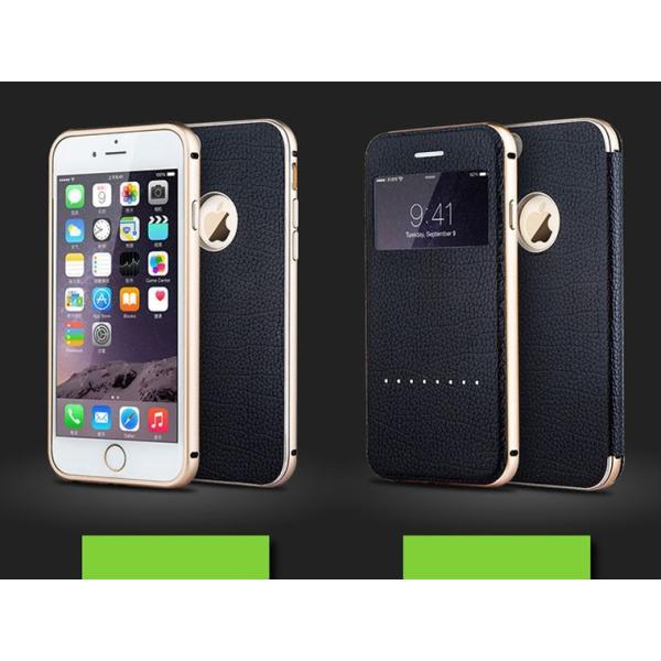 【定形外選択で送料無料※代引は送料有料返品不可】iphone6S iphone6 手帳型 iphone6 2WAY 革 アルミバンパー 2WAY SPC-L007|big-market|03