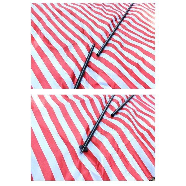タープ テント タープテント スクエアタープ ボーダー ストライプ レクタタープ 300x300cm 3m 日よけ UVカット 耐水加工 簡易テント|bigbangfellas|04