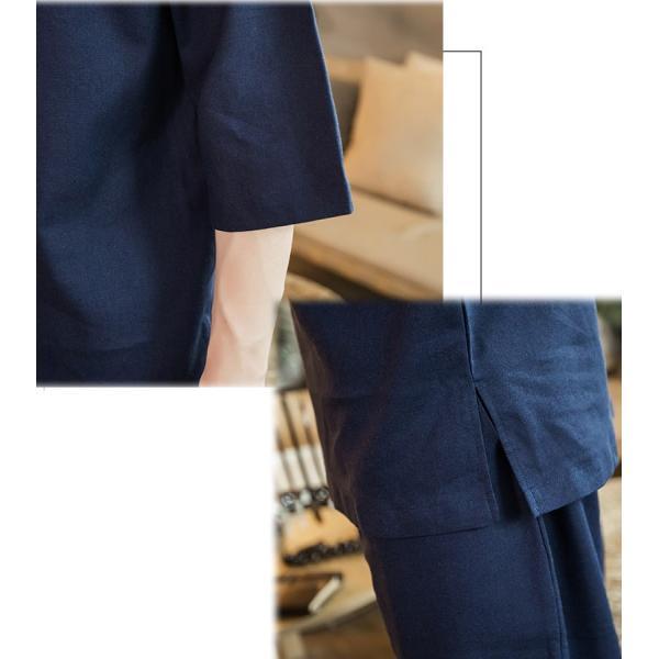メンズ  チャイナ セットアップ 上下 チャイナシャツ パンツ 上下セット ダンス 普段着 部屋着 リラックス 中華風 エスニック ハーフスリーブ 半|bigbangfellas|08